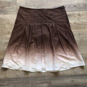 Beautiful Ombré Ann Taylor Brown Skirt 4